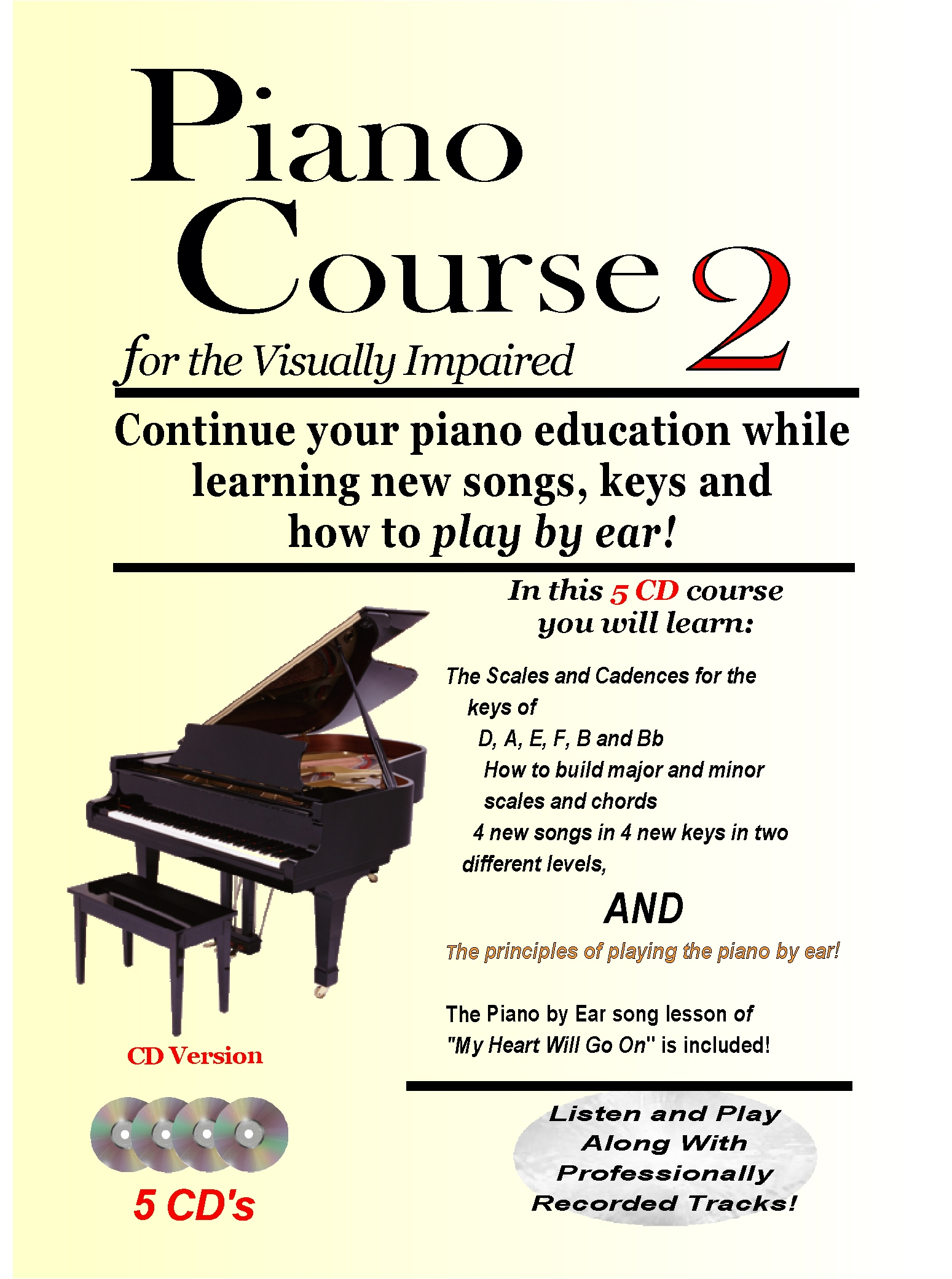 Piano Course 2 for the Visually Impaired