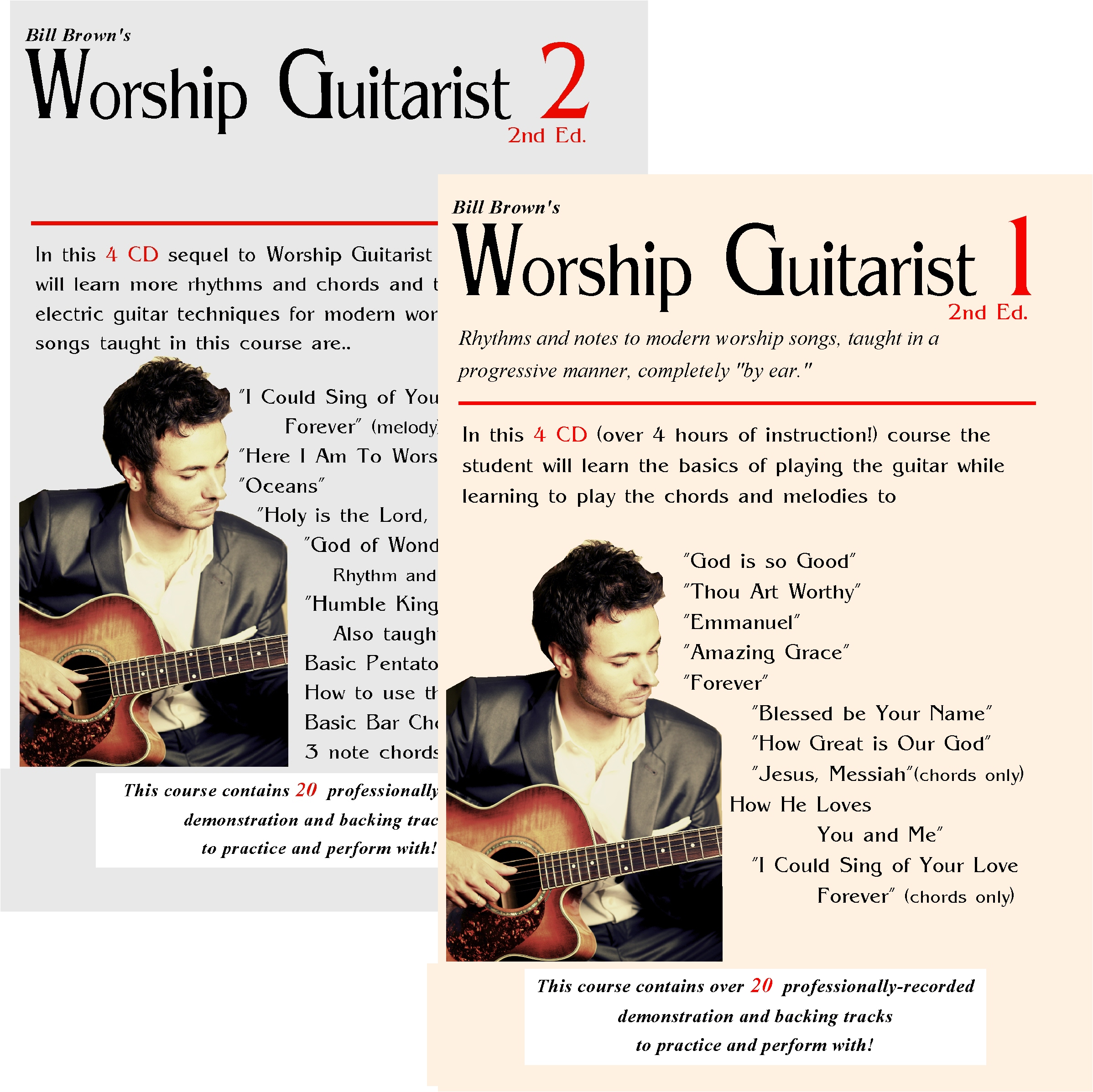 Worship Guitarist 1 and 2 Package